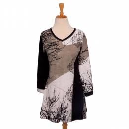 Fresh Groove Natural Tree Pattern Tunic