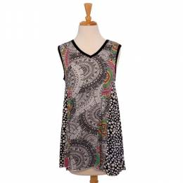 Fresh Groove Ornate Pattern Tank Top