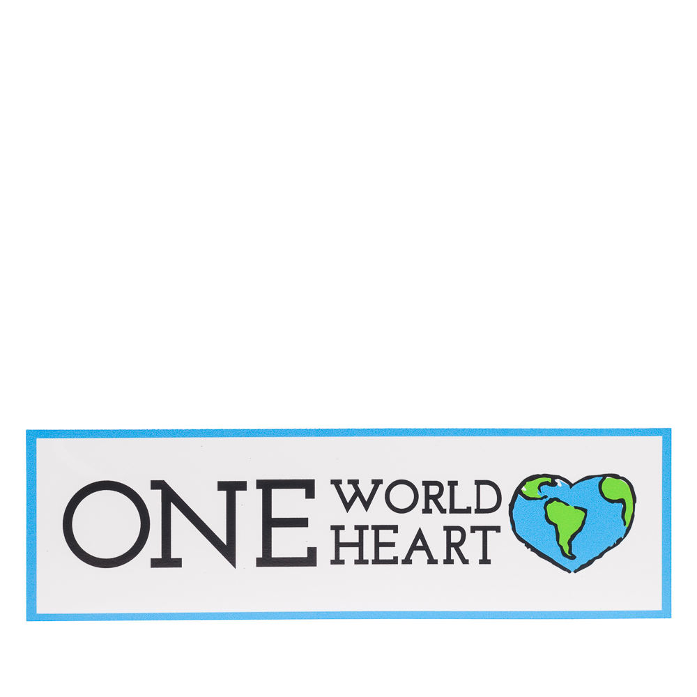 Fridgedoor One World One Heart Rectangle Car Magnet