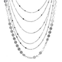 The Paper Store Multi Row Chain Necklace and Earrings Set
