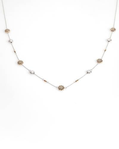 Exclusive Two-Tone Medallion Necklace