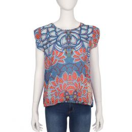 Angie Multicolor Beaded Top
