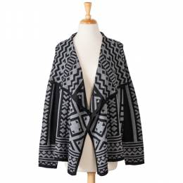 Star of India Aztec Black and Grey Cardigan