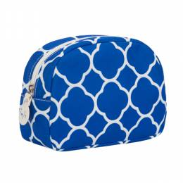 Inis Blue Quatrefoil Cosmetic Bag