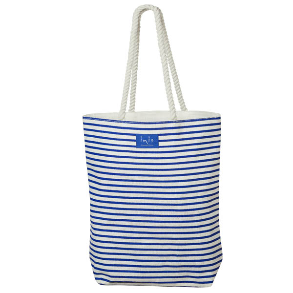 Inis Striped Jute Beach Tote