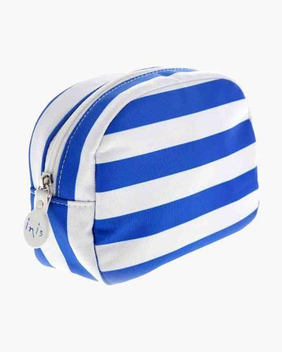 Blue Stripes Cosmetic Bag