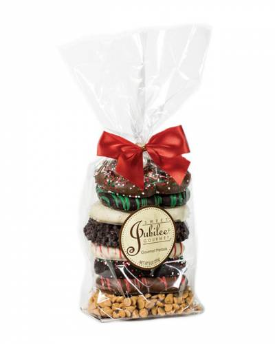 Chocolate Covered Holiday Pretzels Gift Bag