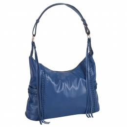 Mellow World Woven Hobo Bag in Blue