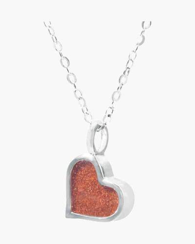 Sand Jewel Heart Necklace