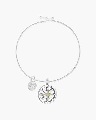 Sands of Cape Cod Compass Charm Bangle