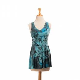 Pretty Woman Fashion Blue Flowers Sublimated Tank Top