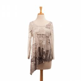 Pretty Woman Fashion Boston Newsprint Tunic