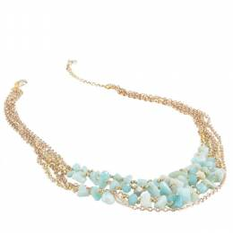 The Paper Store Shell Bead Multistrand Necklace