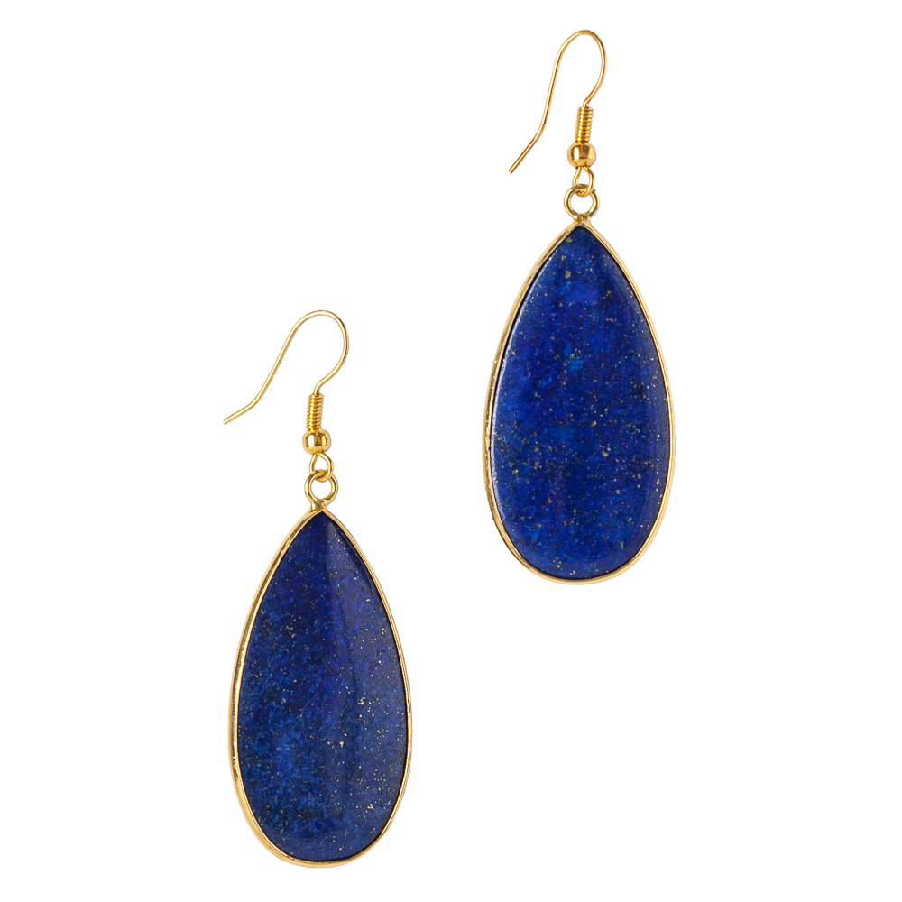 Mia and Tess Gold Rim Teardrop Earrings