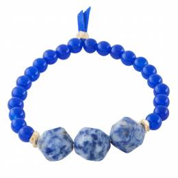 Mia and Tess Bold Bead Bracelet in Sodalite