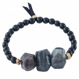 Mia and Tess Bold Bead Bracelet in Black