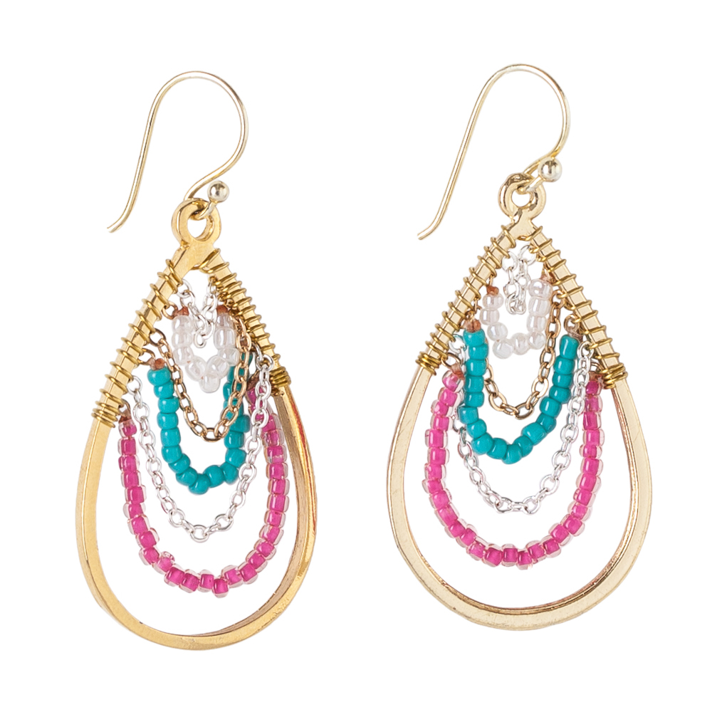 Mia and Tess Beaded Strands Earrings
