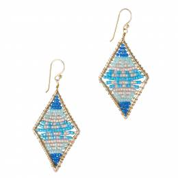 Mia + Tess Designs ™ Beaded Diamond Shape Earrings