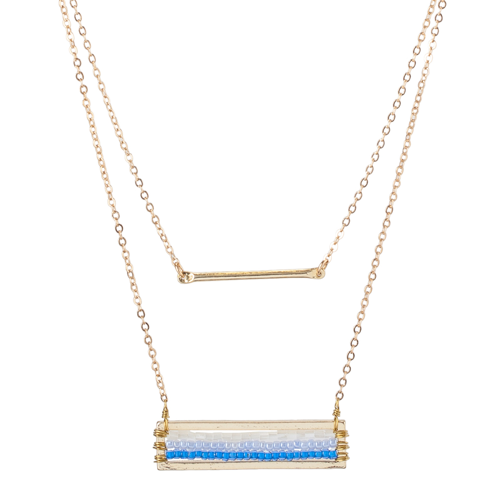 Mia and Tess Double-Layer Bar Necklace