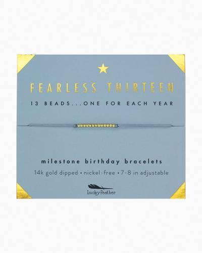 Fearless Thirteen Birthday Milestone Bracelet
