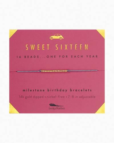 Sweet Sixteen Birthday Milestone Bracelet