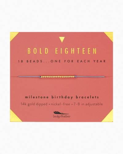 Bold Eighteen Birthday Milestone Bracelet
