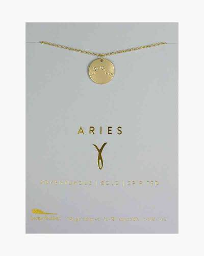 Aries Zodiac Sign Constellation Pendant Necklace