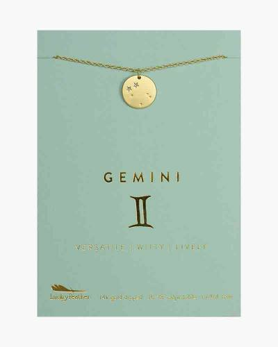Gemini Zodiac Sign Constellation Pendant Necklace