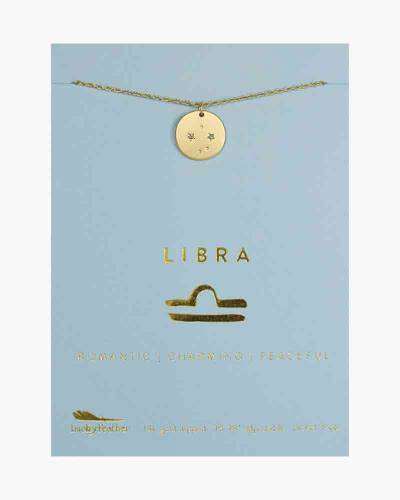 Libra Zodiac Sign Constellation Pendant Necklace