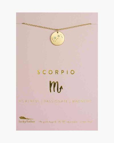 Scorpio Zodiac Sign Constellation Pendant Necklace