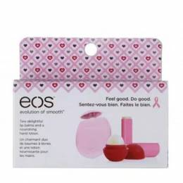 Eos Limited Edition Breast Cancer Awareness Lip Balm and Hand Lotion Set