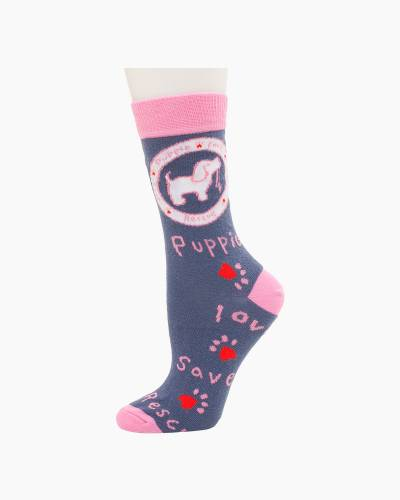 Pink Pup Socks