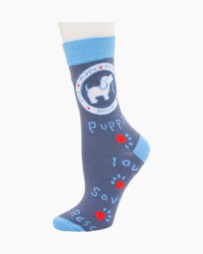 Blue Pup Socks