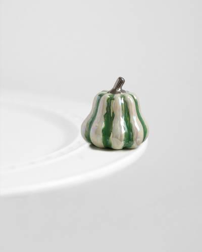 mini Green Squash Platter Ornament