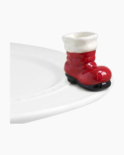 mini Santa Boot Platter Ornament