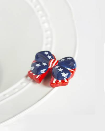 mini Independence Bow Platter Ornament