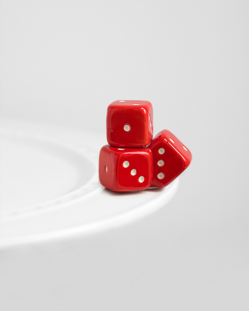 Nora Fleming Mini Red Dice Platter Ornament The Paper Store