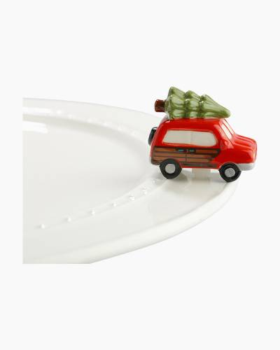 mini Car with Tree Platter Ornament