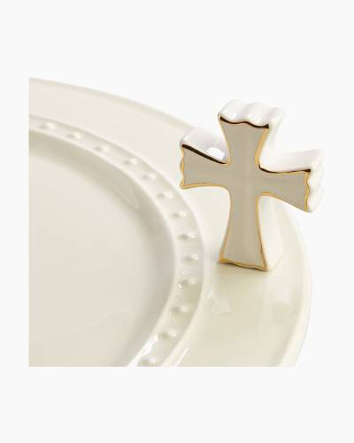 mini Cross Platter Ornament