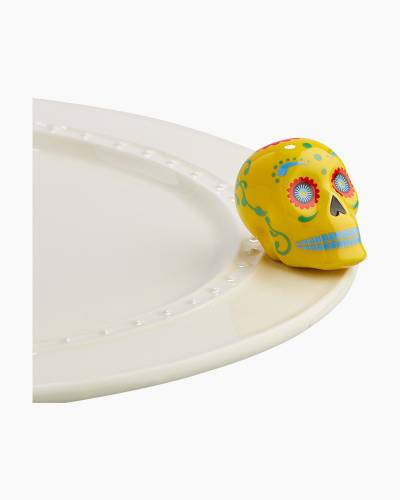 mini Sugar Skull Platter Ornament