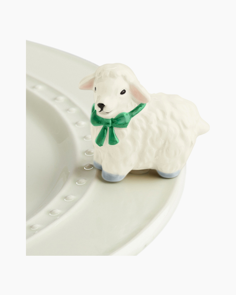 nora fleming mini I Love Ewe! Platter Ornament