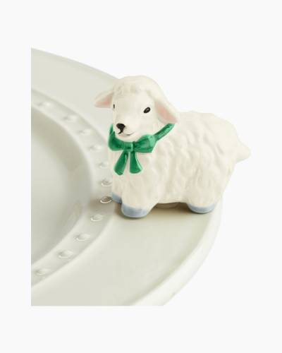 mini I Love Ewe! Platter Ornament