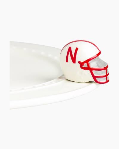 mini Nebraska Cornhuskers Platter Ornament