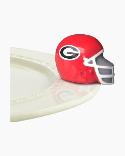 mini Georgia Bulldogs Platter Ornament