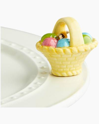 mini Basket with Eggs Platter Ornament