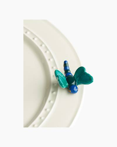 mini Blue Dragonfly Platter Ornament