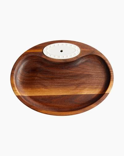 Wooden Tidbit Dish