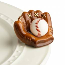 nora fleming mini Baseball Mitt Platter Ornament