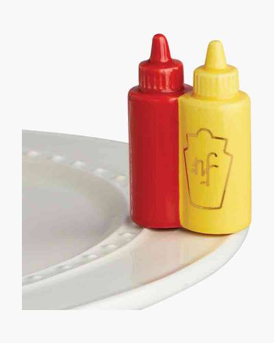 mini Main Squeeze Ketchup and Mustard Platter Ornament