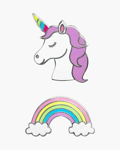 Unicorn and Rainbow Phone Charms Set